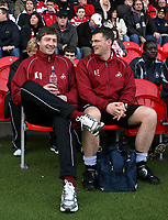 "Photo: Paul Thomas.<br /> Doncaster Rovers v Swansea City. Coca Cola League 1. 17/02/2007.<br /> <br /> A relaxed ""stand in"" manager Kevin Nugent (L) of Swansea before the game."
