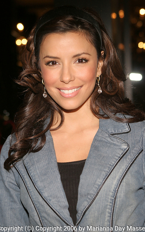 Jan 11, 2006; Beverly Hills, CA, USA; Actress EVA LONGORIA at the Harry Winston opening celebration of their new Beverly Hills flagship store. Mandatory Credit: Photo by Marianna Day Massey/ZUMA Press. (©) Copyright 2006 by Marianna Day Massey