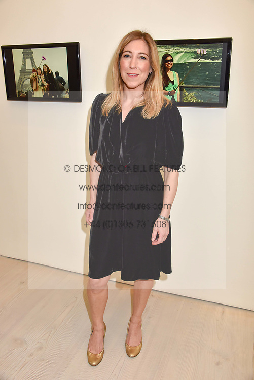 Joanna Gosling at a preview of the 'From Selfie To Self-Expression' exhibition at The Saatchi Gallery, Duke Of York's HQ, King's Road, London, England. 30 March 2017.