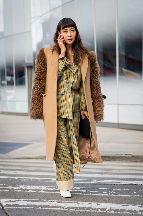 Plaid Pantsuit, Outside Creatures of Comfort FW2018
