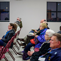 030315       Cable Hoover<br /> <br /> Gallup citizens and city officials attend a meeting about curbside recycling at the Indian Hill fire station in Gallup Tuesday.