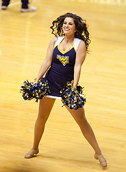 A West Virginia dancer is seen during the first half at the WVU Coliseum.