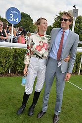 EDIE CAMPBELL and OTIS FERRY at the 2014 Glorious Goodwood Racing Festival at Goodwood racecourse, West Sussex on 31st July 2014.