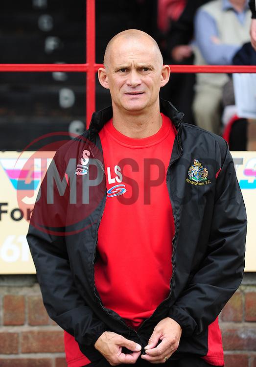Altrincham Manager, Lee Sinnott - Photo mandatory by-line: Neil Brookman - Mobile: 07966 386802 16/08/2014 - SPORT - FOOTBALL - Altrincham - J. Davidson Stadium - Altrincham v Bristol Rovers - Vanarama Conference Football