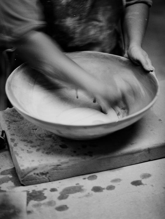 Hiil tribe potters at Doi Tung Development Project