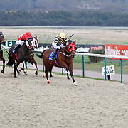 Jack My Boy and Thomas Brown winning the 1.55 race