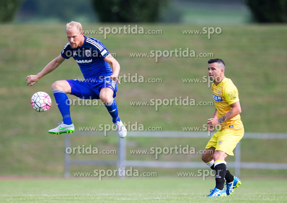 18.07.2015, Dolomitenstadion, Lienz, AUT, Testspiel, Arminia Bielefeld vs Udinese Calcio, im Bild Tobias Levels (FC Ingolstadt), Antonio Di Natale (Udinese Calcio) // during a International Friendly Football Match between Arminia Bielefeld and Udinese Calcio at the Dolomitenstadion in Lienz, Austria on 2015/07/18. EXPA Pictures © 2015, PhotoCredit: EXPA/ Johann Groder