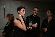LYNN RENEE, DANNY HUSTON AND CHRIS SIMON, Party hosted by Larry Gagosian at Nobu, Berkeley St. London. 9 October 2007. -DO NOT ARCHIVE-© Copyright Photograph by Dafydd Jones. 248 Clapham Rd. London SW9 0PZ. Tel 0207 820 0771. www.dafjones.com.