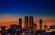 DEN HAAG -  Skyline van Den Haag bij ondergaande zon<br /> COPYRIGHT RONALD SPEIJER