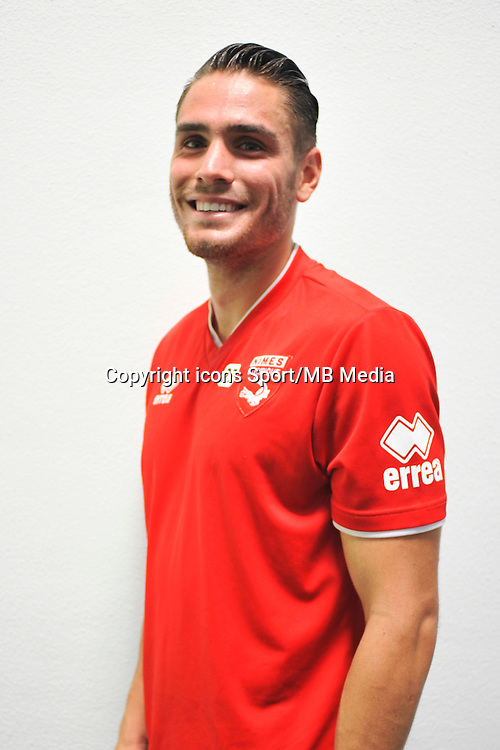 Anthony MARIN - 16.09.2014 - Photo officielle Nimes - Ligue 2 2014/2015<br /> Photo : Icon Sport