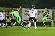 Forest Green Rovers Darren Carter (12) goes close with a shot at goal during the Vanarama National League match between Forest Green Rovers and Eastleigh at the New Lawn, Forest Green, United Kingdom on 13 September 2016. Photo by Shane Healey.