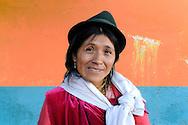 Indigenous woman, Quito, Ecuador