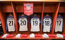 November 14, 2017 - Leiria, Leiria, Portugal - Leiria, Portugal - Tuesday November 14, 2017: USMNT locker room in Portugal during an International friendly match between the United States (USA) and Portugal (POR) at Estádio Dr. Magalhães Pessoa. (Credit Image: © John Dorton/ISIPhotos via ZUMA Wire)