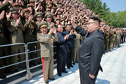 Undated photo from North Korean News Agency shows North Korean leader Kim Jong-un inspecting a Korean People's Army tanks unit, in undisclosed location, North Korea. Photo released 20 May 2017. Photo by Balkis Press/ABACAPRESS.COM