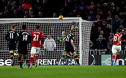 Alvaro Negredo of Middlesbrough puts a shot over the crossbar - Mandatory by-line: Robbie Stephenson/JMP - 05/12/2016 - FOOTBALL - Riverside Stadium - Middlesbrough, England - Middlesbrough v Hull City - Premier League