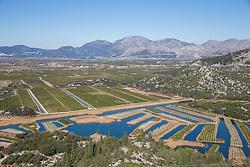 THEMENBILD - das Bild zeigt das Delta des Flusses Neretva. ES ist eine einzigartige Landschaft im Süden Kroatiens und ein Feuchtgebiet, das in der Ramsar Konvention als international bedeutend angeführt wird. // The delta of river Neretva is a unique landscape in southern Croatia, and a wetland that is listed under the Ramsar Convention as internationally important pictured at Dubrovnik, Croatia on 2015/02/18. EXPA Pictures © 2015, PhotoCredit: EXPA/ Pixsell/ Grgo Jelavic<br /> <br /> *****ATTENTION - for AUT, SLO, SUI, SWE, ITA, FRA only*****