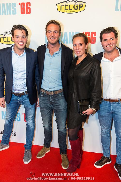 NLD/Amsterdam/20191113 - Filmpremiere Le Mans '66, Guido van der Garde en partner Denise Boekhoorn en ............