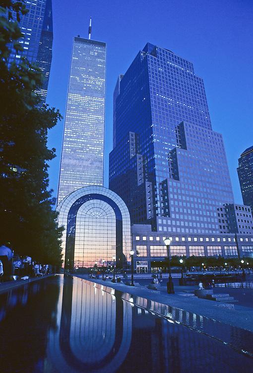Twin Towers, Winter Garden, World FInancial Center Plaza, Manhattan, New York City, New York, USA