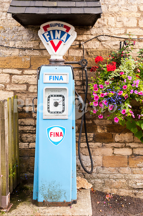 An old fashioned petrol pump in the UK