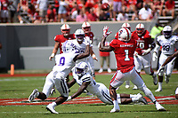 Wolfpack halfback Jaylen Samuels makes a catch against Furman.