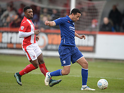 BARROWS SKIPPER THIERRY AUDEL,  Brackley Town FC v Barrow AFC, Buildbase FA Trophy Saturday 13th January 2018, SCORE 0-0, Photo:Mike Capps/Kappa Sport Pictures