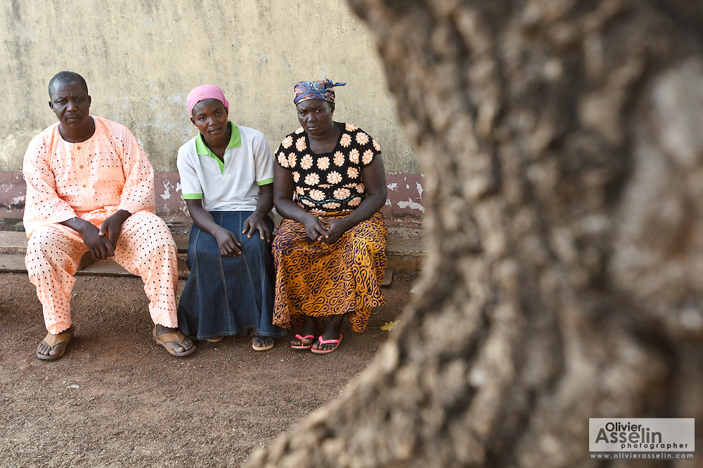 Abdulai Sadia and her parents in Gushegu, Northern Ghana, on Wednesday November 2, 2011.