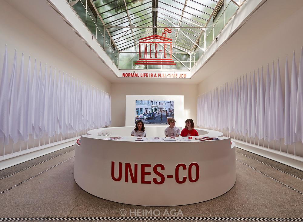 "FREESPACE - 16th Venice Architecture Biennale. Czech and Slovak Republic, ""UNES-CO"" by Kateřina Šedá."