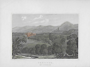 Engravings of Scottish landscapes and buildings from late eighteenth and early nineteenth century, Penicuik, Midlothian, Scotland