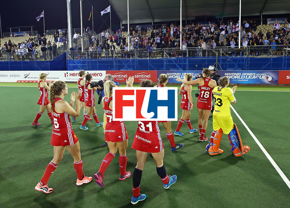 New Zealand, Auckland - 24/11/17  <br /> Sentinel Homes Women&rsquo;s Hockey World League Final<br /> Harbour Hockey Stadium<br /> Copyrigth: Worldsportpics, Rodrigo Jaramillo<br /> Match ID: 10310 - ENG-NZL<br /> Photo: