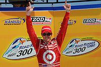 Scott Dixon, Road Runner Turbo Indy 300, Kansas Speedway, Kansas City, KS USA  5/1/2010