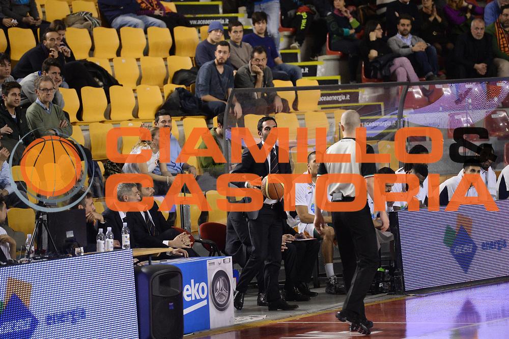 DESCRIZIONE : Roma Lega A 2014-15 Acea Virtus Roma Victoria Libertas Pesaro<br /> GIOCATORE : federico fuca<br /> CATEGORIA : palla<br /> SQUADRA : Acea Virtus Roma Victoria Libertas Pesaro<br /> EVENTO : Campionato Lega Serie A 2014-2015<br /> GARA : Acea Virtus Roma Victoria Libertas Pesaro<br /> DATA : 28.02.2014<br /> SPORT : Pallacanestro <br /> AUTORE : Agenzia Ciamillo-Castoria/M.Greco<br /> Galleria : Lega Basket A 2014-2015 <br /> Fotonotizia : Roma Lega A 2014-15 Acea Virtus Roma Victoria Libertas Pesaro