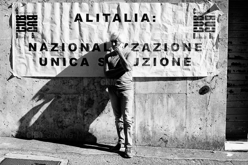 Alitalia trade unions protest. Rome 12 October 2018. Christian Mantuano / OneShot