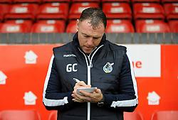 Bristol Rovers caretaker manager Graham Coughlan takes notes prior to kick-off- Mandatory by-line: Nizaam Jones/JMP - 26/12/2018 - FOOTBALL - Banks's Stadium - Walsall, England- Walsall v Bristol Rovers - Sky Bet League One