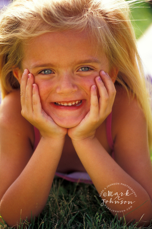 4 year old girl portrait