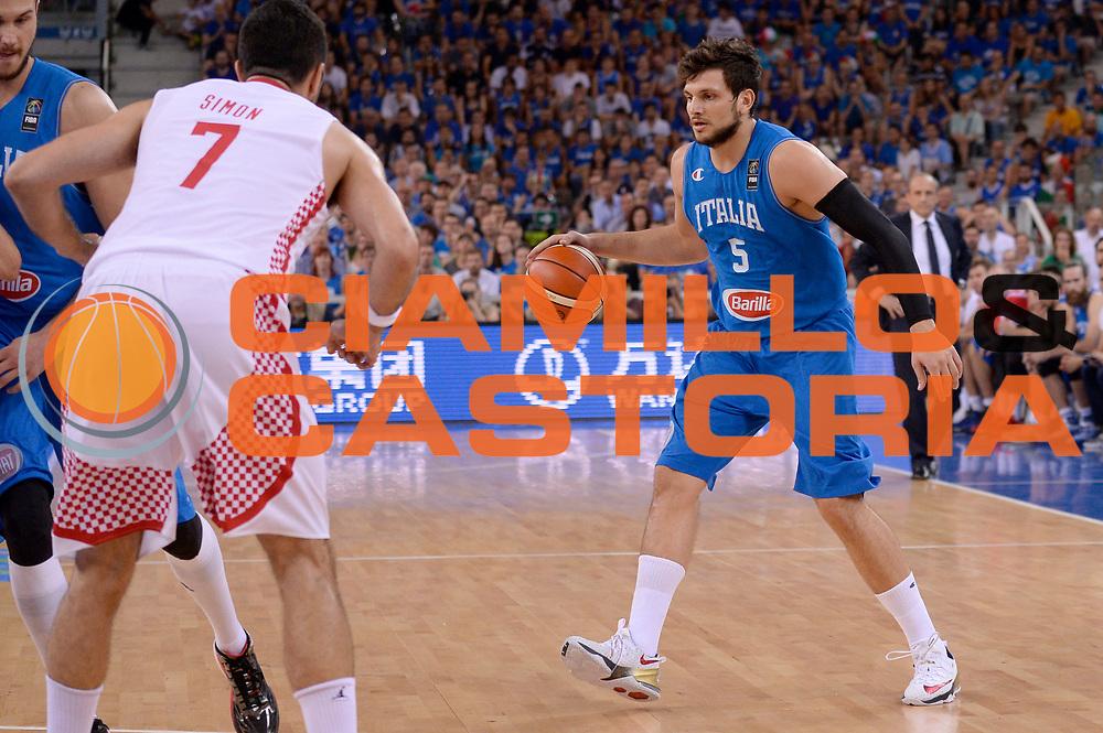 DESCRIZIONE: Torino Turin 2016 FIBA Olympic Qualifying Tournament Finale Final Italia Croazia Italy Croatia<br /> GIOCATORE : Alessandro Gentile<br /> CATEGORIA : palleggio<br /> SQUADRA : Italia Italy<br /> EVENTO : 2016 FIBA Olympic Qualifying Tournament <br /> GARA : 2016 FIBA Olympic Qualifying Tournament Finale Final Italia Croazia Italy Croatia<br /> DATA : 09/07/2016<br /> SPORT: Pallacanestro<br /> AUTORE : Agenzia Ciamillo-Castoria/Max.Ceretti <br /> Galleria : 2016 FIBA Olympic Qualifying Tournament <br /> Fotonotizia : Torino Turin 2016 FIBA Olympic Qualifying Tournament Finale Final Italia Croazia Italy Croatia<br /> Predefinita :