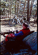 I was going to land in Angle Fire, camp under the wing of the airplane one night, then ride for the weekend.  Police ran me off, made me move camp at 1:00 am. Later I went camping and mountain biking in the mountains around Angel Fire
