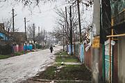 The main road in Paicu, Moldova.