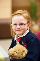 21/01/2016  Sarah Killilea Carnmore NS with Charlie  at the 11th Annual Teddy Bear Hospital in NUI, Galway where Med students get used to dealing with kids and Kids get used to a hospital setting with their sick teddy bears.Photo:Andrew Downes