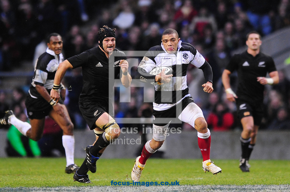 London - Saturday, December 5th 2009: Brian Habana of Barbarians breaks for his second try against New Zealand during the game at Twickenham, London. ..(Pic by Alex Broadway/Focus Images)