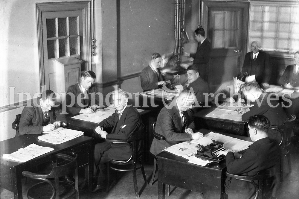 H2942<br /> Independent Newspapers Ltd 30th Anniversary. Pictures of Editorial Dept. 1935.<br /> (Part of the Independent Ireland Newspapers/NLI Collection)
