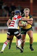 SYDNEY, AUSTRALIA - JULY 19: Arabella McKenzie (22) of the Wallaroos runs the ball during the second rugby test match between the Australian Wallaroos and Japan on July 19, 2019 at North Sydney Oval in Sydney, Australia. (Photo by Speed Media/Icon Sportswire)