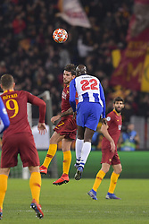 February 12, 2019 - Roma, Roma, Italia - Foto Luciano Rossi/AS Roma/ LaPresse.12/02/2019 Roma (Italia).Sport Calcio.AS Roma - Porto  .Uefa Champions League 2018 2019 - Stadio Olimpico di Roma.Nella foto: Lorenzo Pellegrini, Danilo..Photo  Luciano Rossi/AS Roma/ LaPresse.12/02/2019 Roma (Italia).Sport Soccer.AS Roma - Porto   .Uefa Champions League 2018 2019 - Olimpic Stadium of Roma (Italy).In the pic:  Lorenzo Pellegrini, Danilo (Credit Image: © Luciano Rossi/Lapresse via ZUMA Press)