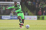 Forest Green Rovers Dale Bennett(2) passes the ball during the EFL Sky Bet League 2 match between Forest Green Rovers and Notts County at the New Lawn, Forest Green, United Kingdom on 10 March 2018. Picture by Shane Healey.