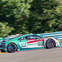 The Montaplast by Land-Motorsport car practice for the Sahlen's Six Hours At The Glen at Watkins Glen International Raceway in Watkins Glen, New York.