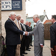 Prince of Wales, Prince Charles visits the Lime Centre, Charlestown, Fife. 08 Sep 2017. Charlestown. Credit: Photo by Tina Norris. Copyright photograph by Tina Norris. Not to be archived and reproduced without prior permission and payment. Contact Tina on 07775 593 830 info@tinanorris.co.uk  <br /> www.tinanorris.co.uk