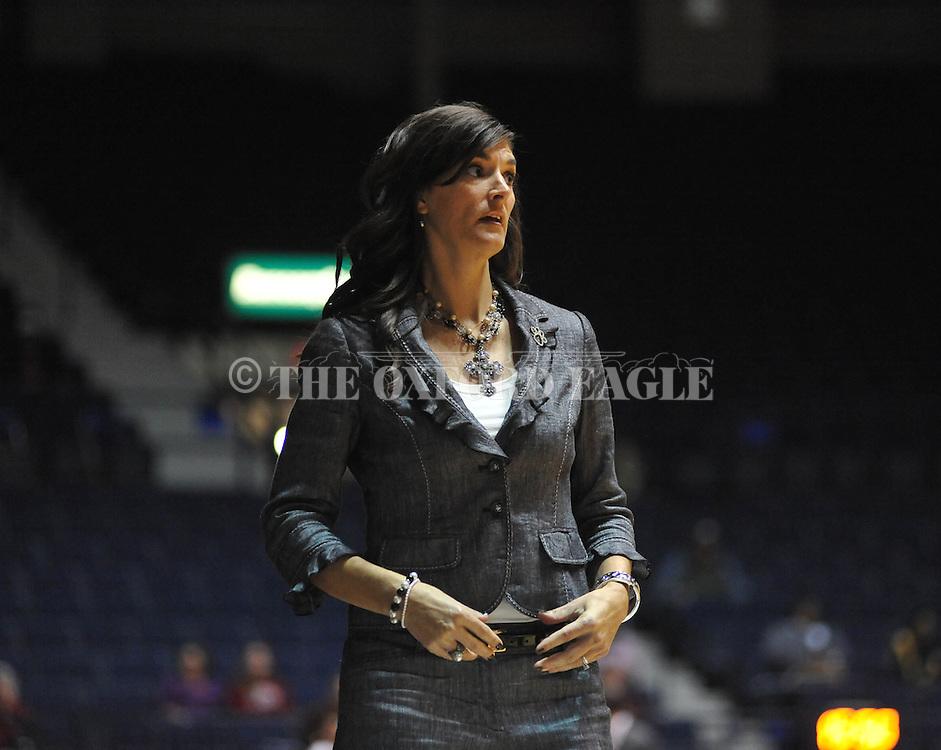 Ole Miss vs. Southeastern Louisiana head coach Lori Davis Jones in Oxford, Miss. on Friday, November 9, 2012.
