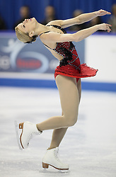 London, Ontario ---10-01-15--- Joannie Rochette competes in the women's short program at the 2010 BMO Canadian Figure Skating Championships in London, Ontario, January 15, 2010. .GEOFF ROBINS/Mundo Sport Images..