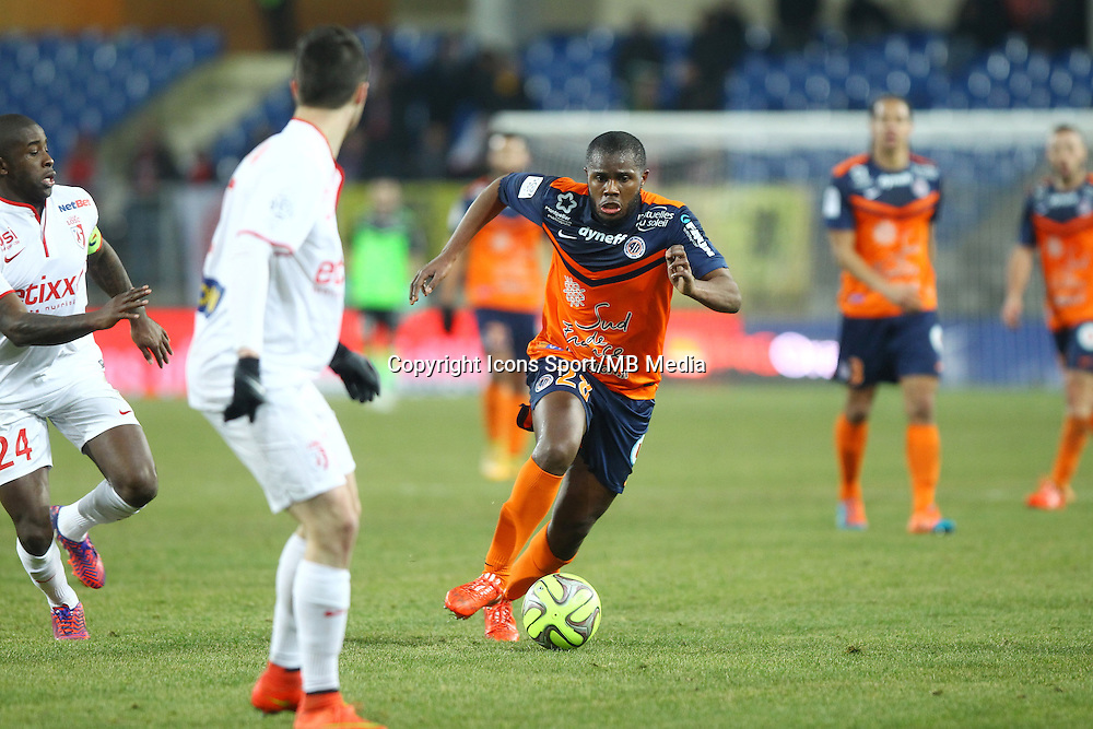 DJAMEL BAKAR - 07.02.2015 - Montpellier / Lille - 24eme journee de Ligue 1<br /> Photo : Andre Delon / Icon Sport