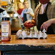 The cooks of the Smoke Shack preparing breakfast in Seward, Alaska.