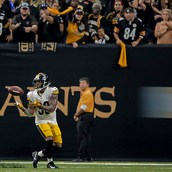 Dec 23, 2018; New Orleans, LA, USA; Pittsburgh Steelers running back Jaylen Samuels (38) catches a touchdown against the New Orleans Saints during the second quarter at the Mercedes-Benz Superdome. Mandatory Credit: Derick E. Hingle-USA TODAY Sports